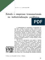 FURTADO, C. (1981) - Estado e empresas transnacionais na industrialização periférica