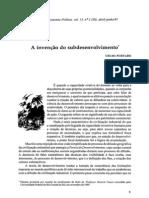 FURTADO, C. (1995) - A invenção do subdesenvolvimento