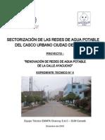 Renovación de Redes d Agua Potable de la Calle Ayacucho
