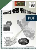 Huanuco Pobreza Nbi