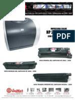 Recarga Toner Hp 2500-2550 Uninet