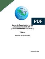 Clasificacion Internacional de Enfermedades CIE10. Material del Instructor