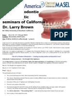 Curs Ortodontie 15-18 Mai 2013