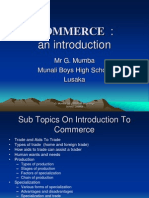 introduction to commerce