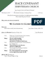 Worship Bulletin February 23, 2014
