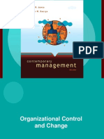 organisational control  change