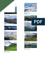 Panorama Munților Alpi