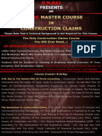 Master Course - Construction Claims - Brochure