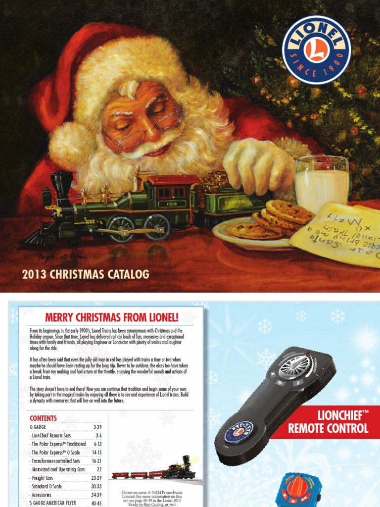2013 Christmas Catalog | Steam Locomotive | Passenger Car (Rail)