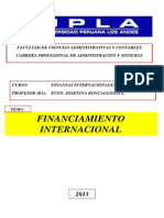 Financiamiento Internacional