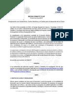 Convocatoria Becas CONACYT-CLAF