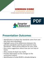 CCSS Presentation Parent Presentation Updated