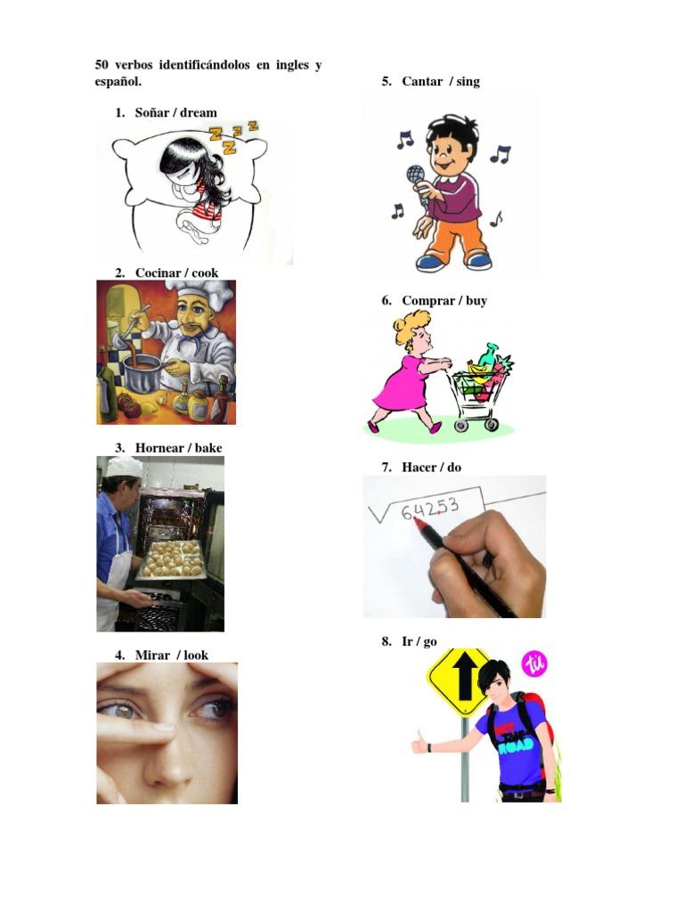 Verbos En Ingles Y Español Con Imagenes 50