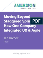 Moving Beyond Staggered Sprints- How One Company Integrated UX & Agile