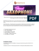 Sensual Saxophone Manual