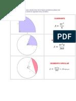 Además de las fórmulas para calcular áreas de las figuras geométricas planas más comunes