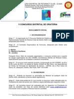 Regulamento 5º CDO - Distrito 4420.
