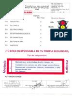21.-Procedimiento Para Control Del Tanque de Carga Por Alto y Bajo Nivel.