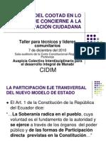 Analisis Cootad Participacion Ciudadana