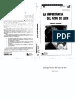 La Importancia Del Acto de Leer - Paulo Freire