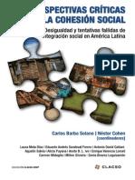 Barba Solano y Cohen Comps Perspectivas Criticas Sobre La Cohesion Social