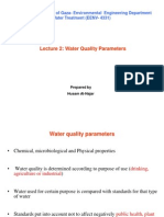 Lecture 2. Water Quality Parameters