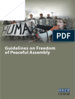 OSCE Guidelines for Peaceful Assembly
