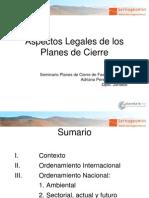 Aspectos Legales en Planes de Cierre