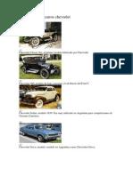 Historia de Los Carros Chevrolet