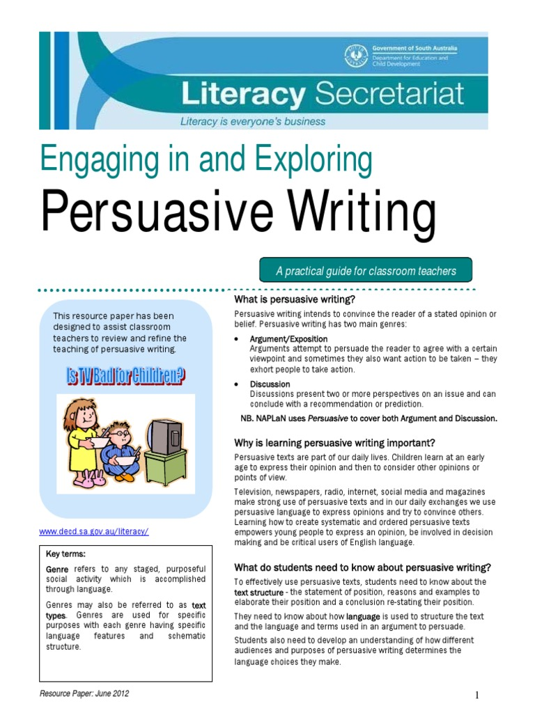 key features of persuasive writing