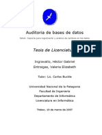Auditoria de Bases de Datos - Tesis