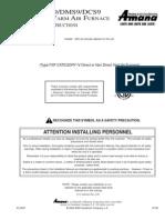 AMANA ACS9 Installation Instructions