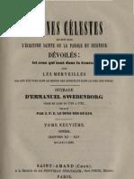 Em Swedenborg ARCANES CELESTES TomeNeuvieme Genese XLI XLIV Numeros 5191 5866 LeBoysDesGuays 1853