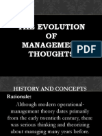 The Evolution of Management Thoughts