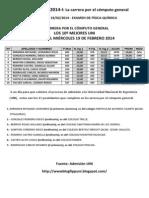 UNI 2014-1 La Carrera Por El Cómputo General Miércoles 19 de Febrero 2014