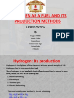 Hydrogen as a Fuel and Its Production Methods
