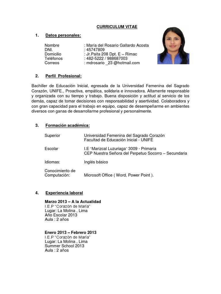 Fantástico Resumen Profesional Del Curriculum Elaboración - Ejemplo ...