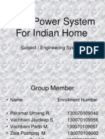 Solar Power Supply for Indian Homes