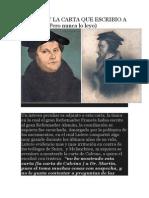 Calvino y La Carta Que Escribio a Lutero