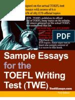 TOEFL Essay eBook Preview