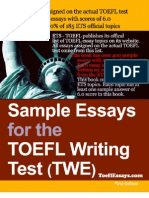 TOEFL Essay eBook Preview