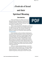Festivals of Israel, & Their Spiritiual Meaning