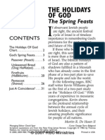 Holidays of God in the Spring Feasts