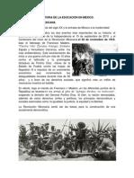 HISTORIA DE LA EDUCACIÓN EN MÉXICO ( Revolucion mexicana)..docx