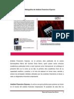 Reseña Bibliográfica de Análisis Financiero Express evento
