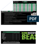 CoachWoot Body Beast Workout Tracking Sheet Schedule Worksheet