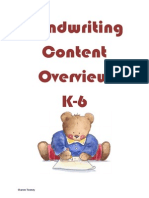 K-6 Handwriting Content-s Tooney