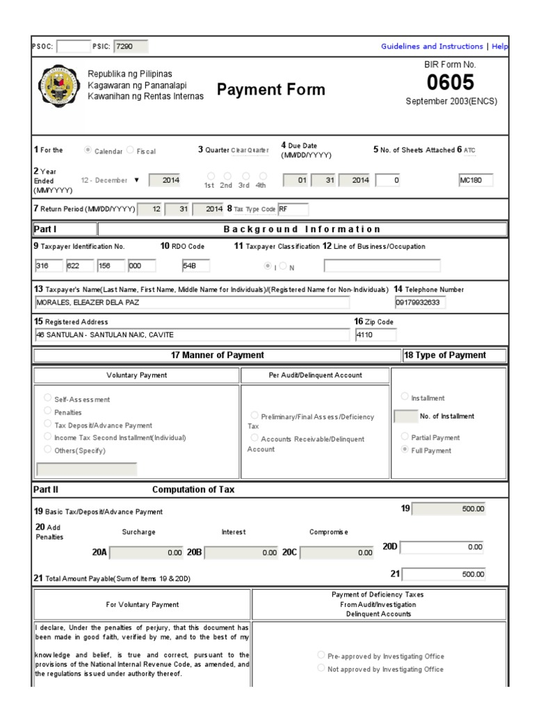 eFPS Home - eFiling and Payment System