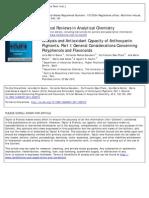 Analysis and Antioxidant Capacity of Anthocyanin Part I