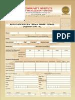 CIMS Application Form 2014